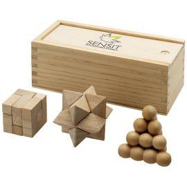 """Quebra-cabeças de 3 peças em madeira """"Brainiac"""""""