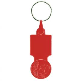 Porta-chaves com moeda de 0,50€ para carrinho compras