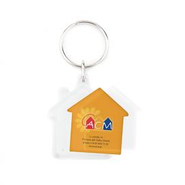 Porta-chaves CR-Y formato casa, 2 faces
