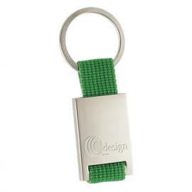 Porta-chaves com nylon em estojo - rectangular
