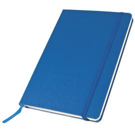 Bloco de notas A5, 80 folhas com elástico e bolsa