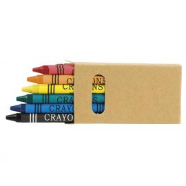 Caixa com 6 lápis de cera