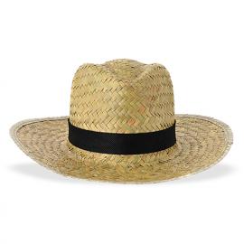 Chapéu de palha homem, palha escura