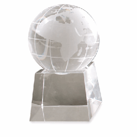 Cristal Bola Mundo Pequena