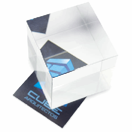 Cristal Quadrado Efecto Vista Lateral