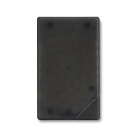 Caixa de caramelos em forma de cartão de crédito.