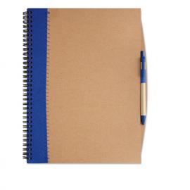 Caderno A4 de capa dura de papel Kraft