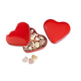 Caixa de alumínio em forma de coração