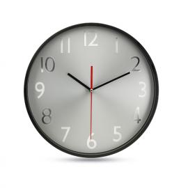 Relógio de parede com esfera e ponteiros de alumínio