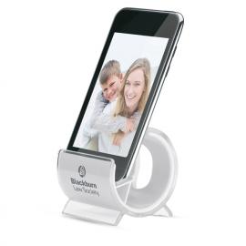 Suporte para telemóvel em plástico de 2 cores.