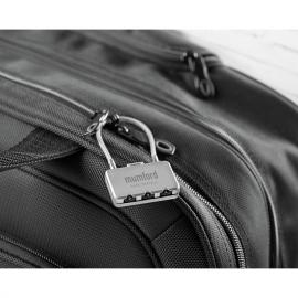 Cadeado de mala com combinação de 3 dígitos.