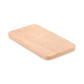 Pequena tabua de corte de madeira.