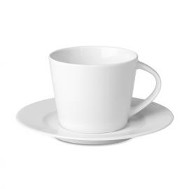 Chávena de capuccino cónicade porcelana com pires