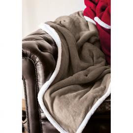 Cobertor de lã coral com forro Sherpa.