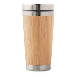 Chávena de viagem em bambu