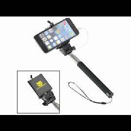 """Pau de selfie extensível com botão e correia """"Wire"""""""