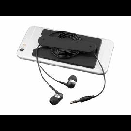 Auriculares internos com fio e carteira para telefone de silicone