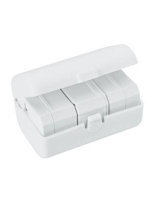 Adaptador com 2 entradas USB, em caixa de plástico