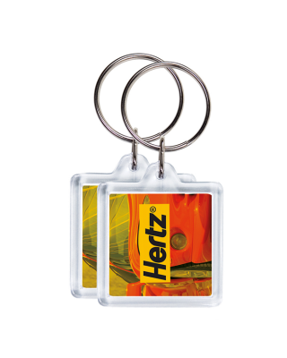 Porta-chaves CR-32 quadrado, 2 faces (32x32mm)