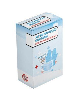 kit de proteção Sanitária em caixa cartolina