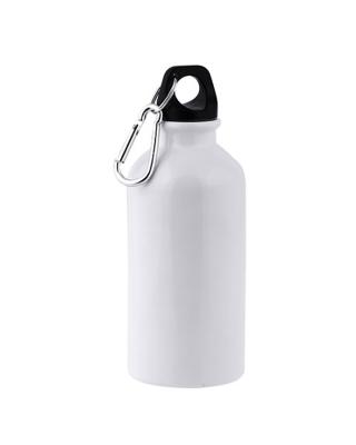 Garrafa em Aluminio 400ml para Sublimação c/ mosquetao