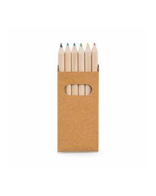 Caixa com 6 lápis de cor