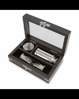 Miniatura Set 3 Peças Latón Silver