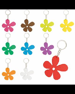 Porta-chaves de Madeira Happy Flower