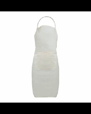 Avental em pano cru com bolso, 100% algodão