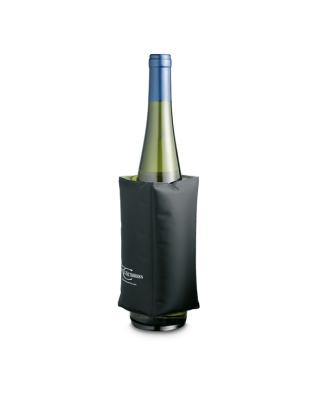Frapê para vinho dobrável em poliéster, laminado interior em PVC.