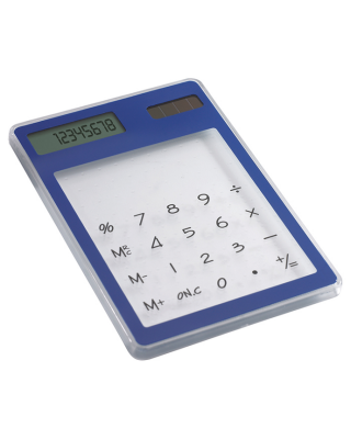 Calculadora solar transparente