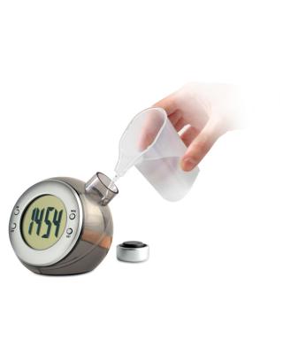 Relógio de secretária LCD água