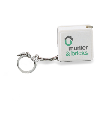 Porta chaves com fita métrica