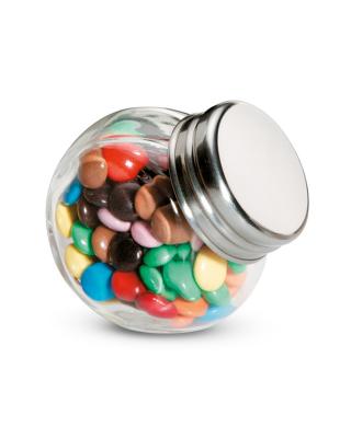Chocolates em pote de vidro