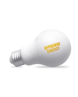 Anti stress com forma de lâmpada. Material PU.