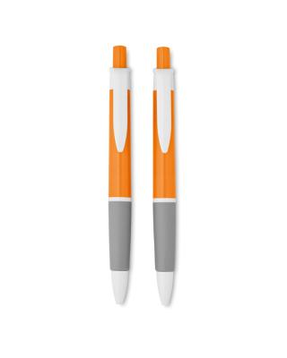 Set de caneta e lapiseira de cor translúcido