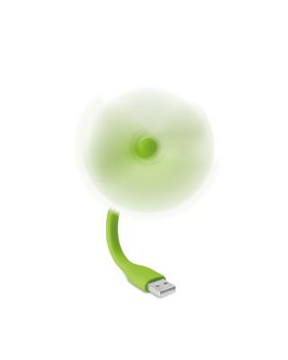 Ventilador portátil USB em PVC.