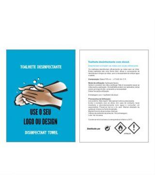 Toalhetes desinfectante personalizada