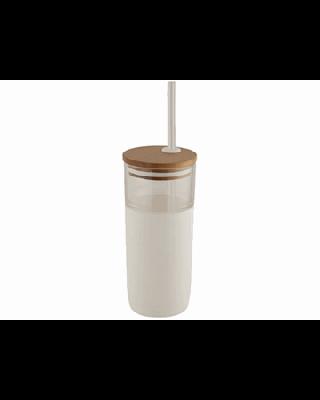 "Copo de vidro com tampa de bambú ""Arlo"""