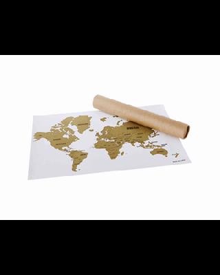 """Mapa para raspar """"Wanderlust"""""""