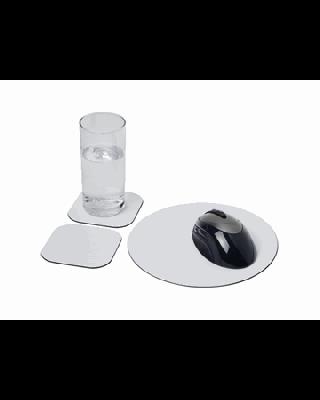 Conjunto de tapete para rato e base para copos Brite-Mat® 6