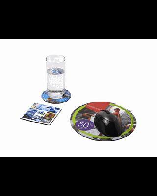 Conjunto de tapete para rato e base para copos Q-Mat® 4