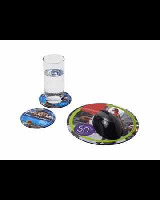 Conjunto de tapete para rato e base para copos Q-Mat® 5