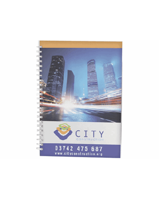 Caderno A4 espiral de arame com capa em PP Desk-Mate®