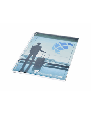 Caderno A5 espiral de arame com capa em PP Desk-Mate®