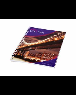 Caderno A4 espiral em metal Desk-Mate®