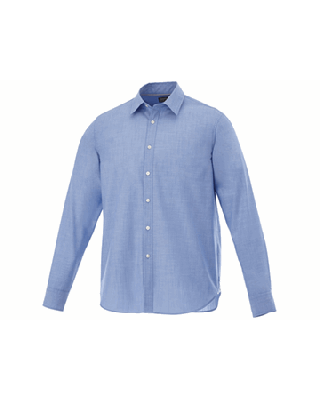 """Camisa de popelina jaspeada e manga comprida de homem """"Lucky"""""""