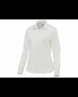 """Camisa elástica de popelina de manga comprida de mulher """"Hamell"""""""