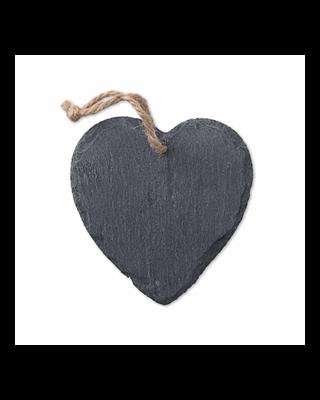 Cabide de ardósia coração