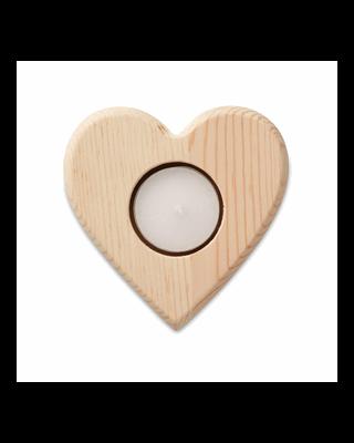 Castiçal em forma de coração